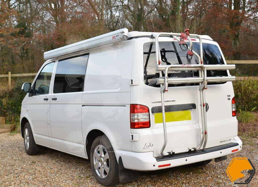 Fiamma Double Barn Door Bike Rack for VW T5 T6 Transporter 2 Bikes