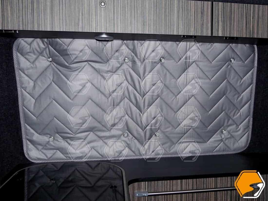 Silver Thermal Screens window coverings for VW Transporter middle sliding door and opposite