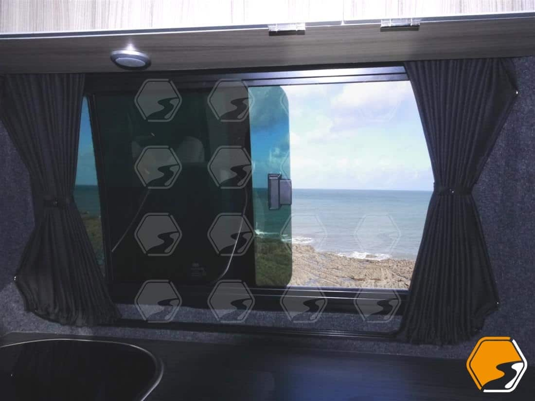 Blackout curtains window coverings for VW Transporter middle window opposite sliding door