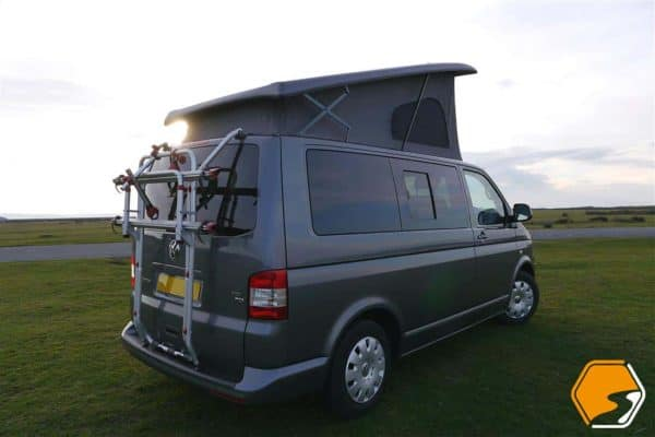 VW T5 T6 Transporter Fiamma Tailgate Bike Rack 2 Bikes 2 Person