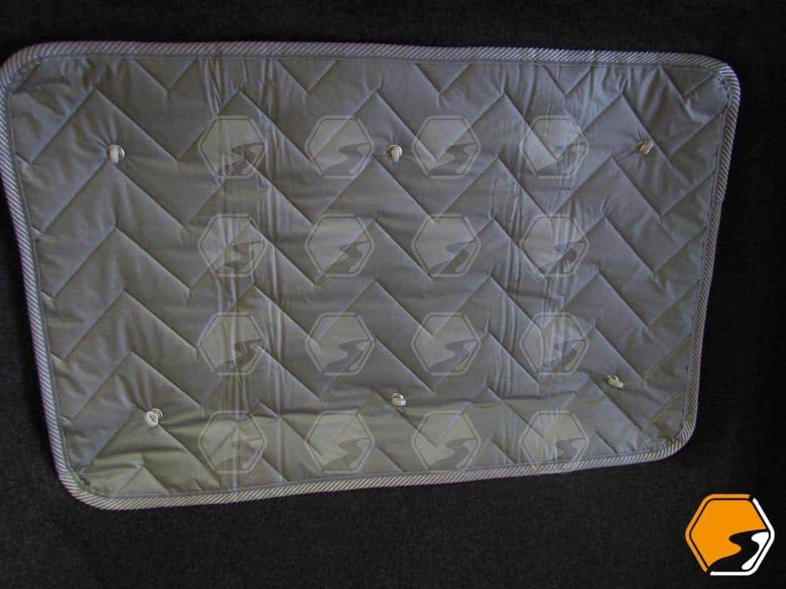 Silver thermal screens window coverings for VW Transporter rear quarter window LWB SWB