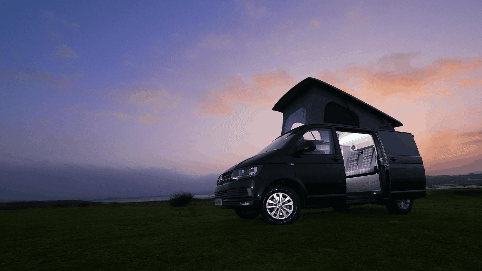 Campervan at Dusk