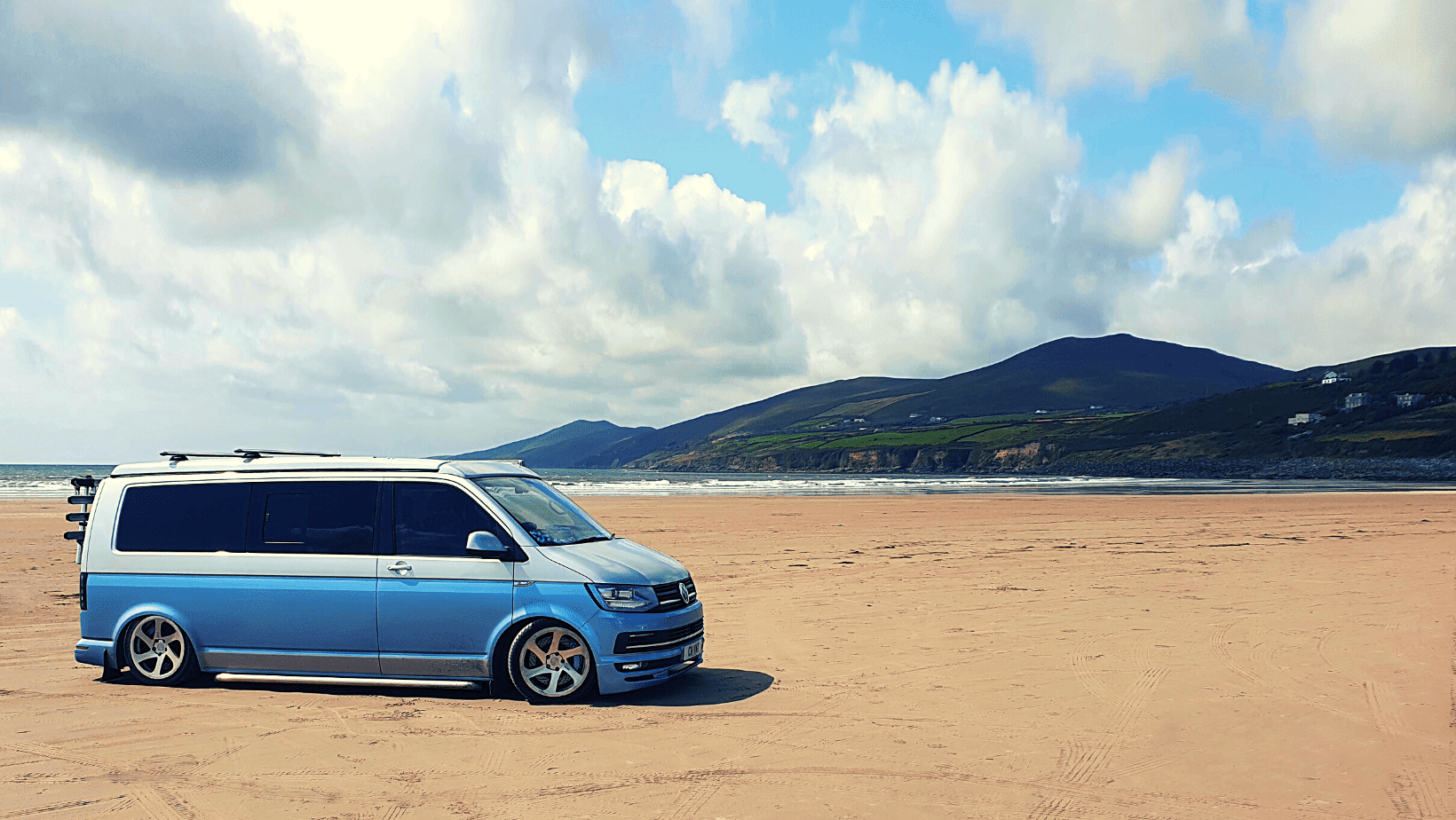 VW Transporter Campervan on the beach Summer Holidays